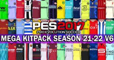PES 2017 LATEST MEGA KITPACK SEASON 2021-2022 V6