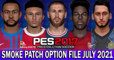 PES 2017 LATEST OPTION FILE 2021 SMOKE PATCH 17.3.5 JULY UPDATE UNOFFICIAL