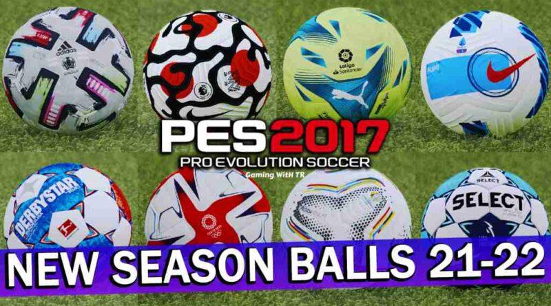 PES 2017 NEW SEASON BALLS 2021-2022