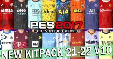 PES 2017 NEW SEASON KITPACK 21-22 V10 AIO