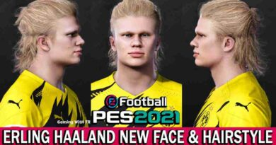 PES 2021 ERLING HAALAND NEW FACE & HAIRSTYLE