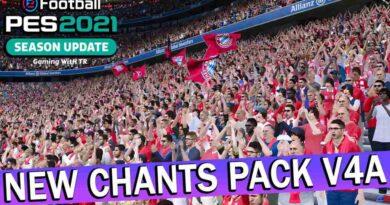 PES 2021 NEW CHANTS PACK V4A