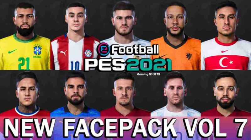 PES 2021 NEW FACEPACK VOL. 7 BY JONATHAN FACEMAKER