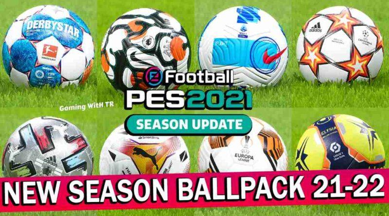 PES 2021 NEW SEASON BALLPACK 21-22 V15