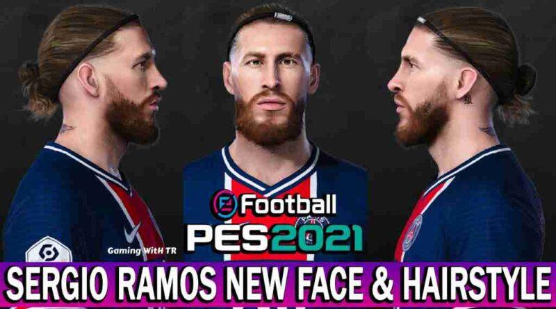 PES 2021 SERGIO RAMOS NEW FACE & HAIRSTYLE