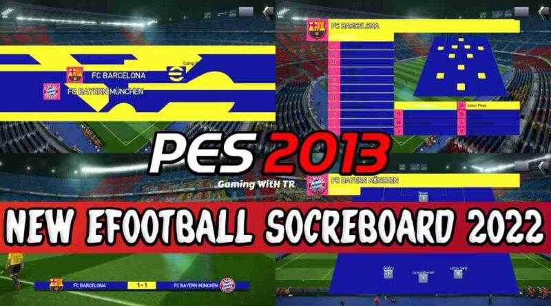 PES 2013 NEW EFOOTBALL SOCREBOARD 2022