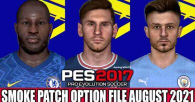 PES 2017 LATEST OPTION FILE 2021 (SMOKE PATCH 17.3.5 AUGUST UPDATE UNOFFICIAL)