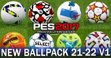 PES 2017 NEW BALLPACK 21-22 V1
