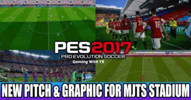 PES 2017 NEW PITCH & GRAPHIC FOR MJTS STADIUM