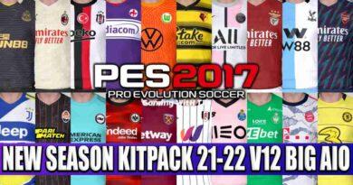 PES 2017 NEW SEASON KITPACK 21-22 V12 BIG AIO