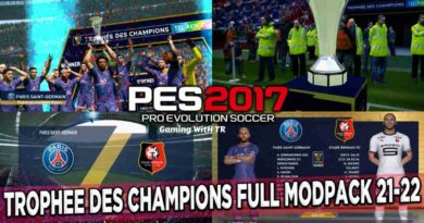 PES 2017 NEW TROPHEE DES CHAMPIONS FULL MODPACK 2021-2022