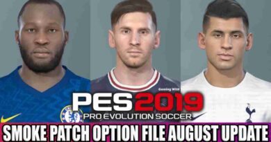 PES 2019 LATEST OPTION FILE 2021 SMOKE PATCH 19.3.8 AUGUST UPDATE UNOFFICIAL