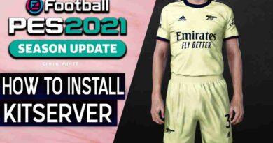 PES 2021 HOW TO INSTALL KITSERVER