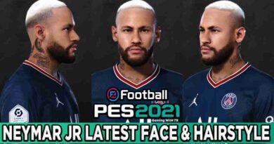 PES 2021 NEYMAR JR LATEST FACE & HAIRSTYLE