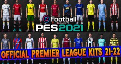 PES 2021 OFFICIAL PREMIER LEAGUE KITS 2021/2022