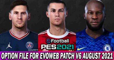 PES 2021 OPTION FILE EVOWEB PATCH V6 AUGUST UPDATE