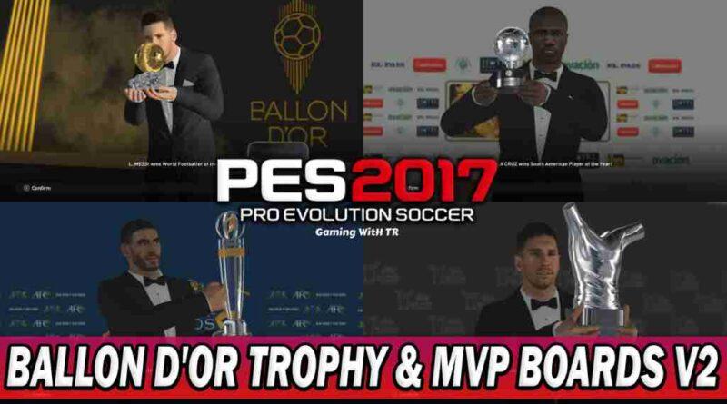 PES 2017 BALLON D'OR TROPHY & MVP BOARDS V2