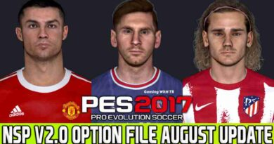 PES 2017 LATEST OPTION FILE 2021 NEXT SEASON PATCH V2.0 AUGUST UPDATE UNOFFICIAL