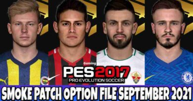 PES 2017 LATEST OPTION FILE 2021 SMOKE PATCH 17.3.6 SEPTEMBER UPDATE UNOFFICIAL