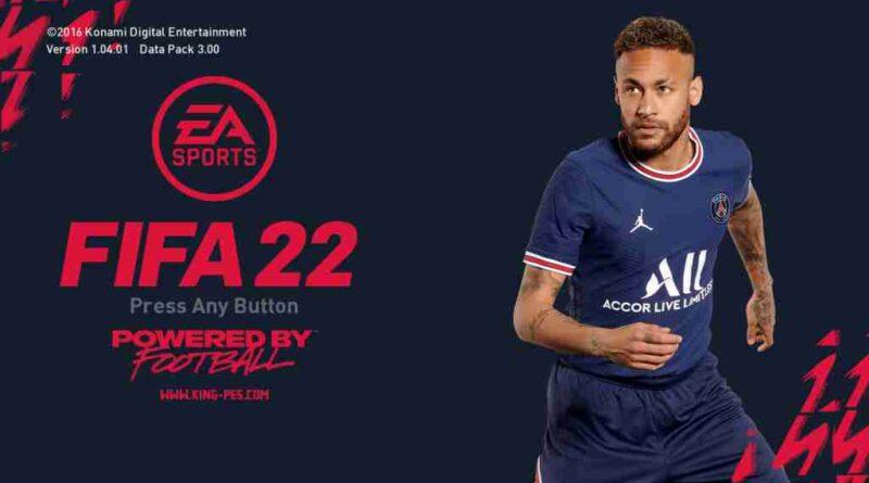 PES 2017 NEW FIFA 22 STYLE PSG GRAPHIC MENU