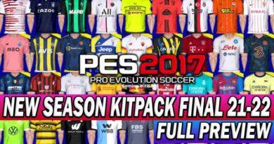 PES 2017 NEW SEASON KITPACK FINAL 2021-2022