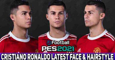 PES 2021 CRISTIANO RONALDO LATEST FACE & HAIRSTYLE