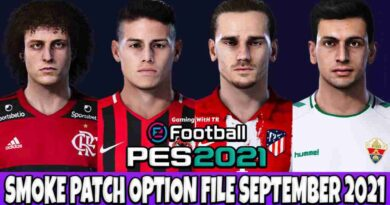 PES 2021 LATEST OPTION FILE 2021 SMOKE PATCH 21.3.7 SEPTEMBER UPDATE UNOFFICIAL