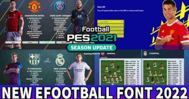 PES 2021 NEW EFOOTBALL FONT 2022