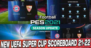 PES 2021 NEW UEFA SUPER CUP SCOREBOARD 2021-2022