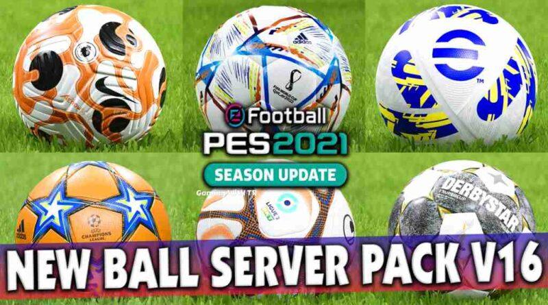 PES 2021 NEW BALL SERVER PACK V16 515 BALLS