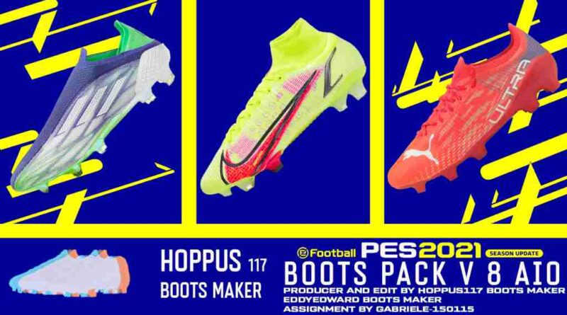 eFootball PES 2021 SEASON UPDATE BOOTS PACK V8 AIO BY Hoppus 117